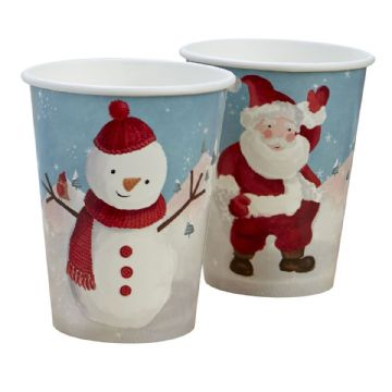 Christmas Snowman Party Paper Cups